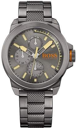 HUGO BOSS Men's 45mm Ip Steel Bracelet Steel Case Quartz Watch 1513319