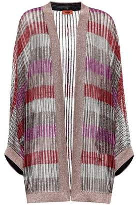 Missoni Striped lamé cardigan