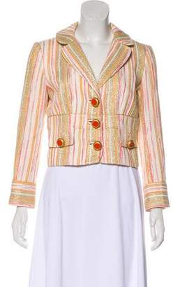 Dolce & Gabbana Metallic Striped Cropped Jacket