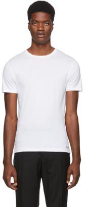 Ralph Lauren Purple Label White Luxury Lisle T-Shirt