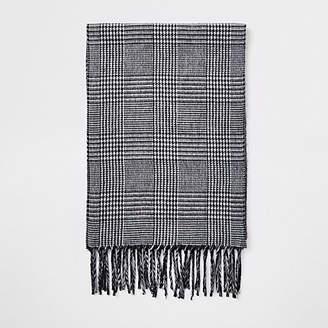 e97e2cc7671 Mens Grey Check Scarf - ShopStyle UK
