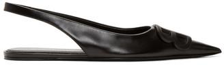 Balenciaga Black BB Slingback Ballerina Flats