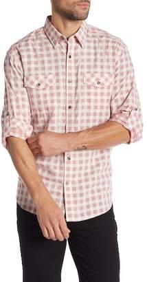 James Campbell Fass Regular Fit Check Sport Shirt