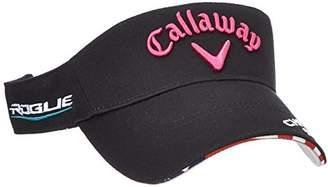 Callaway (キャロウェイ) - (キャロウェイ アパレル)Callaway Apparel [ レディース] 定番 ロゴ入り サンバイザー (ツアーモデル) / 247-8990900 / 帽子 ゴルフ 247-8990900 010 010_ブラック FR