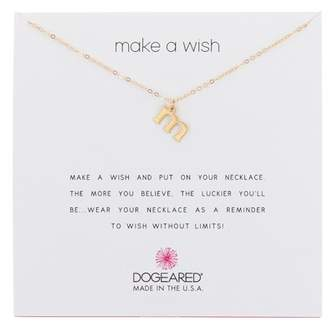 Dogeared 14K Gold Vermeil Make a Wish Open M Charm Necklace