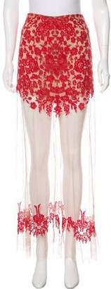 For Love & Lemons Embroidered Maxi Skirt