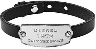 Diesel Men Stainless Steel Cuff Bracelet - DX1130040
