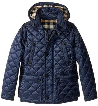 Burberry Quilted Jacket with Hood Boy's Coat
