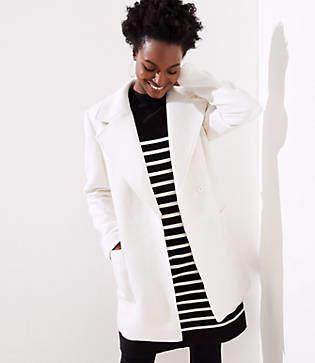LOFT Tall Twill Wrap Coat