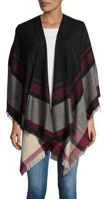 Lord & Taylor Bold Striped Poncho