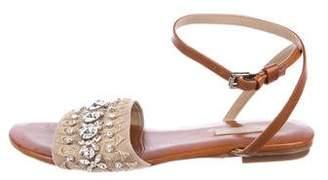 Michael Kors Embellished Leather Sandals