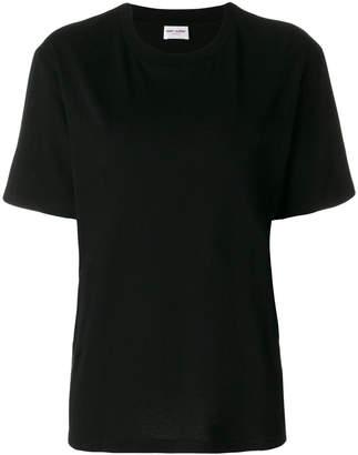 Saint Laurent cat print boyfriend T-shirt