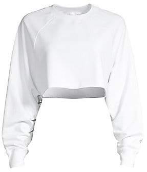 Alo Yoga Women's Double Take Cropped Sweatshirt