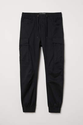 H&M Cargo Joggers - Black