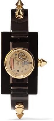Gucci Plexiglas And Gold-tone Watch - Black