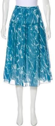 Akris Punto Printed Midi Skirt