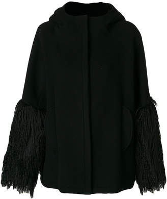 Giamba fringed cuffs coat