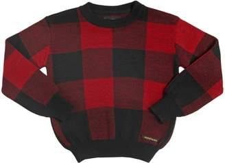 Finger In The Nose Plaid Wool, Cashmere & Angora Sweater