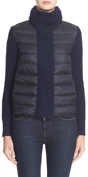Moncler Women's Moncler Mixed Media Down Jacket
