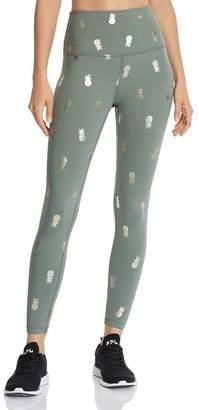 Beyond Yoga Metallic Pineapple Print Leggings