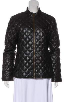 Moncler Leather Quilted Jacket