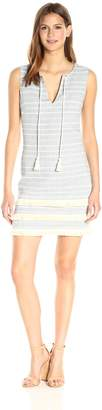 Jessica Simpson Women's Striped Tweed Shift Dress, Blue/White