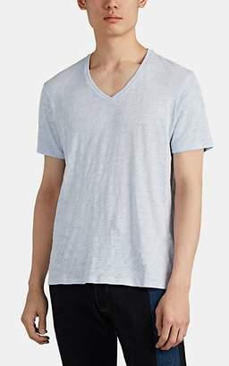 ATM Anthony Thomas Melillo Men's Slub Cotton V-Neck T-Shirt - Lt. Blue