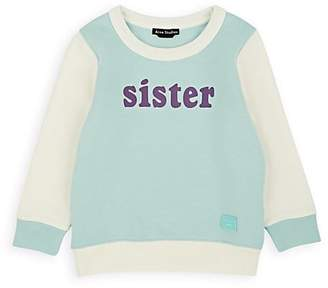 "Acne Studios Kids' ""Sister"" Cotton Fleece Sweatshirt"