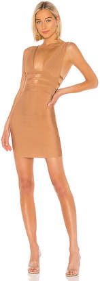 superdown Sasha Deep V Bandage Dress