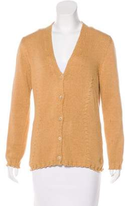 Malo Button-Up Knit Cardigan