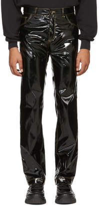 Ottolinger Black Faux-Leather Shiny Basic Jeans