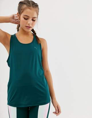 Puma Training Racer Back Tank In Green