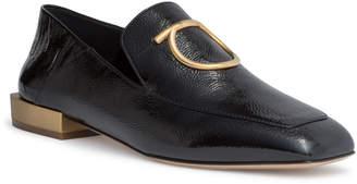 Salvatore Ferragamo Lana black patent loafers