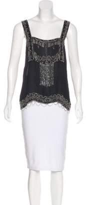 Anna Sui Beaded Silk Top