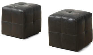 Monarch Two-Piece Leather-Look Ottoman Set