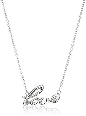 Hallmark Jewelry Stories & Relationships Sterling Love Script Pendant Necklace