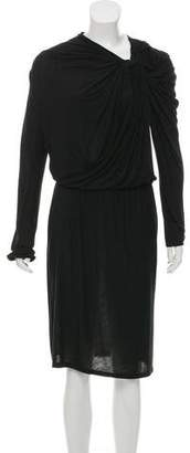 Lanvin Long Sleeve Midi Dress