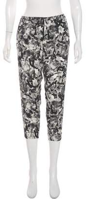 Theory Print Cropped Pants