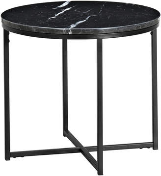 Webster Temple & 50cm Round Black Siena Marble Side Table