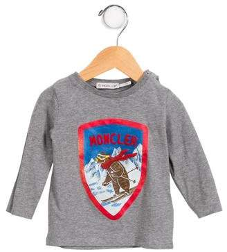 Moncler Boys' Logo Ski Bear Shirt