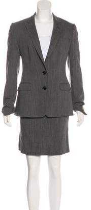 Dolce & Gabbana Virgin Wool Skirt Suit