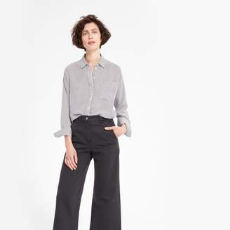 Everlane The Clean Silk Oversized Shirt