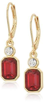 Anne Klein Gold-Tone Siam Leverback Drop Earrings