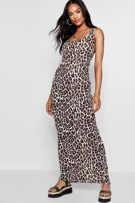 boohoo Tall Eva Leopard Print Maxi Dress