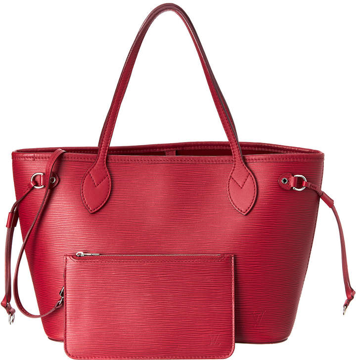 Louis Vuitton Rouge Epi Leather Neverfull Pm Nm