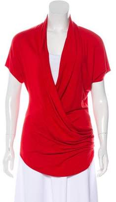 Helmut Lang Short Sleeve Draped Top