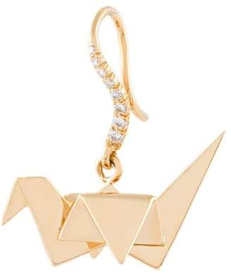 Aurelie Bidermann 18kt gold Origami diamond earring