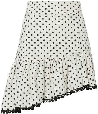 Suboo Frill Polka Dot Mini Skirt