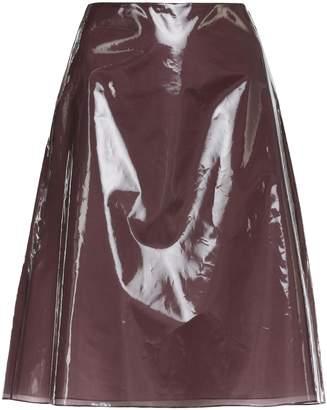 Jil Sander Plastic And Silk Skirt