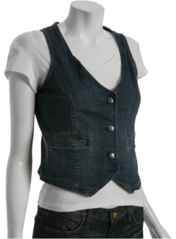 Paper Denim & Cloth lauren wash denim 3-button vest